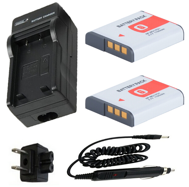 Battery 2-Pack+Charger for Sony Cyber shot DSC H3 H7 H9H10 H20 H50 H55 H70 H90 HX5V HX7V HX9V HX10V HX20V HX30V Digital Camera