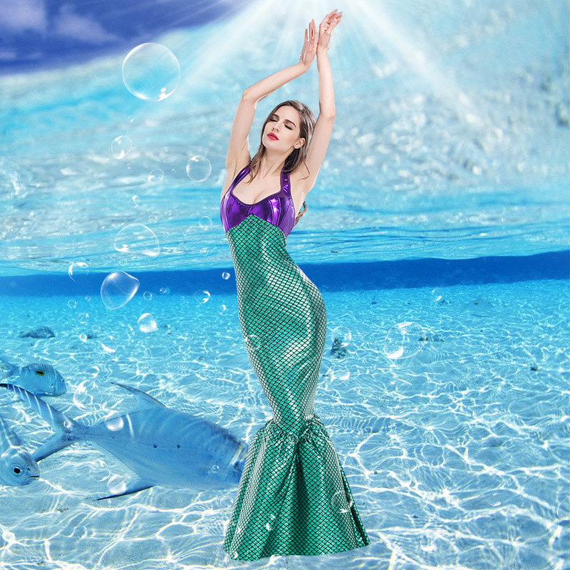 Dancing Mermaid Purple & Green Mermaid Princess Cosplay Costume Mermaid Costumes for Party or Stage Performance