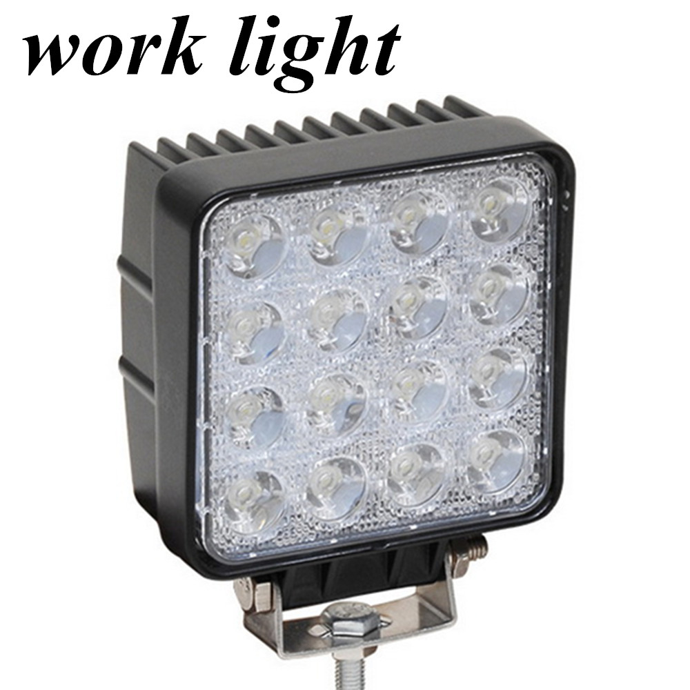 ФОТО high quality 10-30V DC fog lamp light 2pcs 48W work light lamp  Flood beam Off Road Truck Trailer Interior and Exterior Lighting
