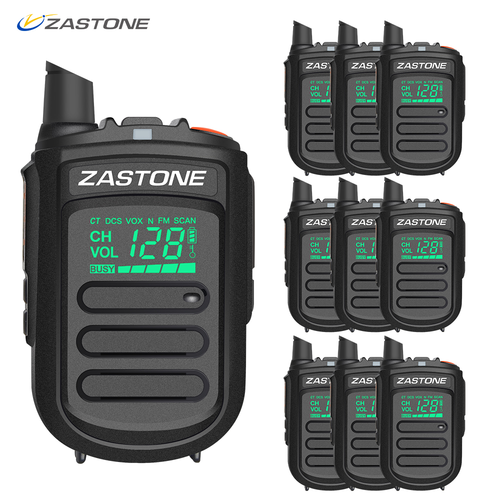 (10pcs) Zastone Mini9 Walkie Talkie Professional Portable Two Way Radio CB Radio UHF 400-470MHz Communicator Transceiver Telsiz