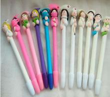 10pcs/lot Cute Creative stationery wholesale cute doctor nurse polymer caly ball pen Character ballpoint