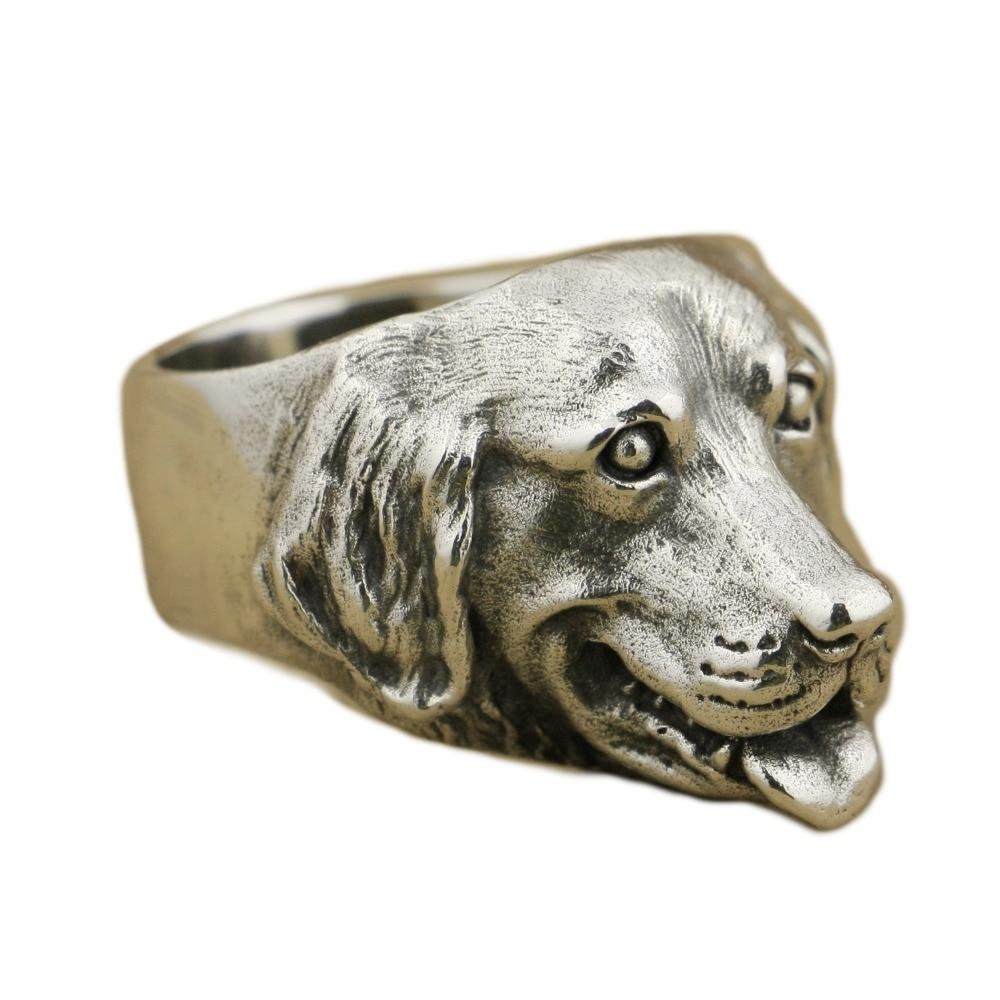 Bague en argent Sterling 925 en argent Sterling avec breloques pour chien TA32 4PX