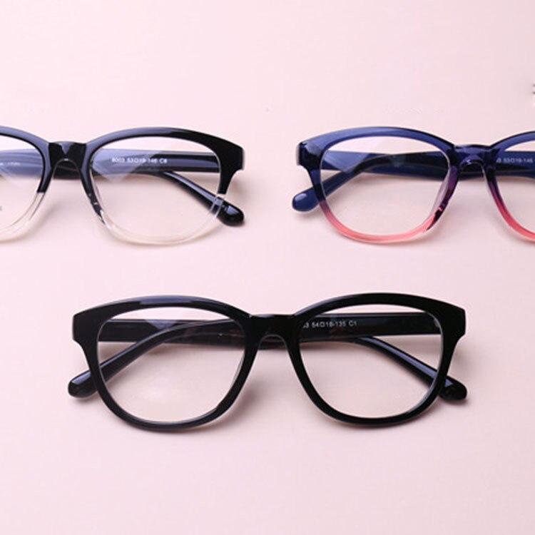 Chashma Moda TR 90 Marco Grande Estudiante de Color Negro Gafas de ...