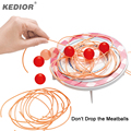 Kedior Don't Drop The Meatballs Funny Family Games Party Challenge Children's Gag Toys Noodles Novelty Gadget for Kids' Patience