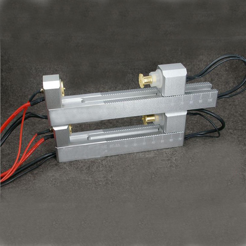 Extended 60A double self-locking aluminum alloy CNC four-wire battery holder fixture charger for 26650 18650 AA AAA