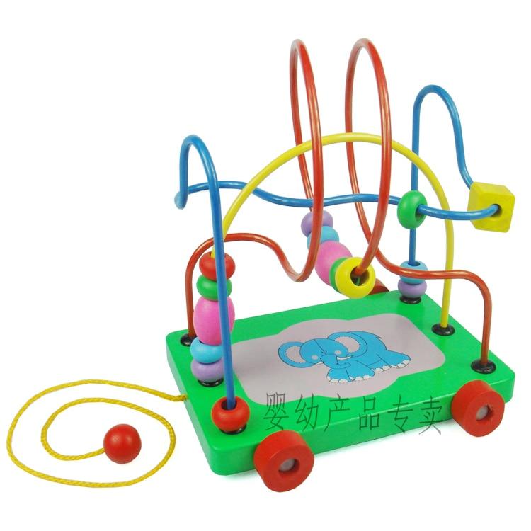 """Skaičiuoklė Montessori Educativos Mediniai vaikų ugdymo žaislai protingam priekabų labirintui """"Abacus"""" skaičiavimo turas"""