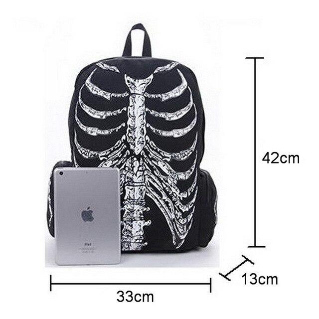 Skeleton Backpack 42 x 33 cm Unisex 5