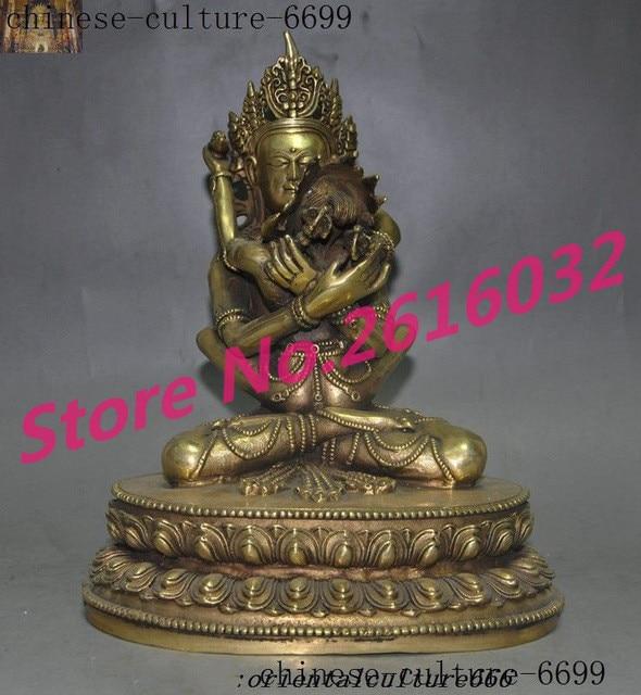 wedding decoration old Tibetan Buddhism bronze Gilt Hevajra Mandkesvara HAPPY Budda Yab Yum statue