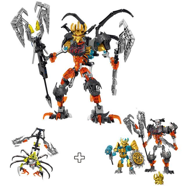2015 nuevo Cráneo Bionicle Guerrero Slicer Basher 3 en 1 Juguetes de Bloques de Construcción Figuras Figura de Acción XSZ 711-2