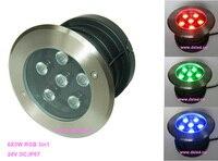 IP68  CE  de boa qualidade  alta potência 18 W RGB LED de luz subterrânea  LED RGB luz do Assoalho  a DS 11S 17 18W RGB  6X3 W 3in1 RGB  24 V DC|power led rgb|rgb led high power|high power led rgb -