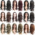 Fashion 16 Colors Brand New Female Long Afro Kinky Synthetic Wig 3/4 Wig Heat Resistance Half Wig Curly Blonde Wig Pad For Hair