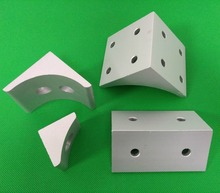 6060/8080 8 hole double groove aluminum plate Squeeze corner piece corner code right angle piece Fixed seat