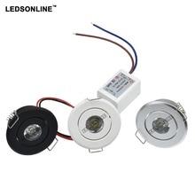 20pcs/lot 1W 3W Mini Led Cabinet downlight Recessed Spot light Include Driver White Nature Warm white AC85-265V
