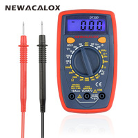 NEWACALOX DT33 LCD Digital Multimeter Back Light AC DC Ammeter Voltmeter Ohm Portable Clamp Meters