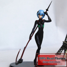 27cm Japanese anime figure Neon Genesis Evangelion Ayanami Rei Black Plugsui PVC Action Figure Collectible Model Toy