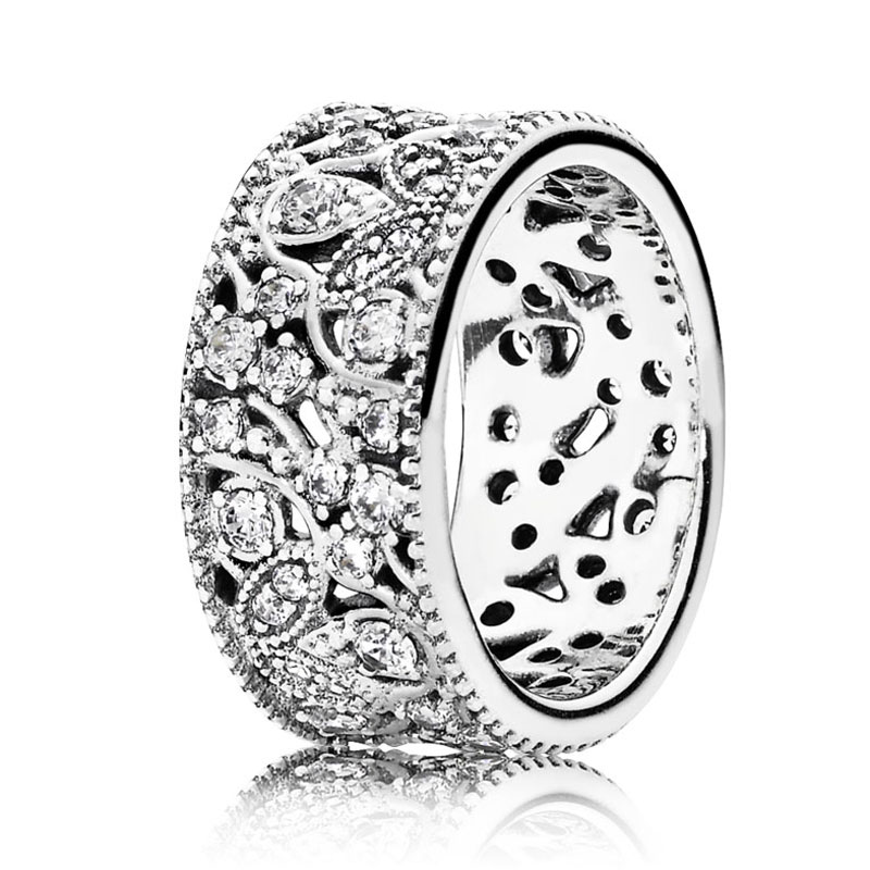 fdc66746f Pearlescent Hearts Entwining Silver Rings 925 Sterling Silver Signature Ring  For Women Wedding Gift Fine Pandora Jewelry-in Wedding Bands from Jewelry  ...