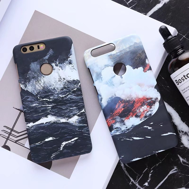 Meachy For Huawei Honor Back Cover luxury Frosted Hard ocean phone Case