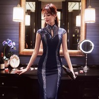 Long Formal Women Traditional Chinese Oriental Party Dresses Sexy Vintage Cheongsam Wedding Gown Dress Modern Abendkleider Qipao