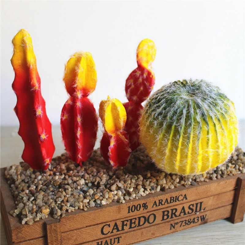 Künstliche Sukkulenten Pflanzen Garten Miniatur Gefälschte Kaktus DIY Hause Blumen Hochzeit Büro Garten Dekorative Pflanze Ornamente