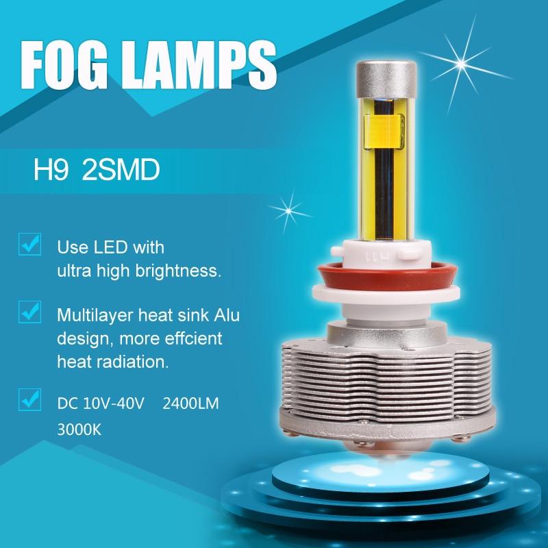 2pcs/lot High Quality H9 H16  LED Fog Lamps Auto Convision Bulbs 3000K Golden Ultra Bright 20W high quality 5050 12v e14 led lamps e14 led bulbs led e14 lamps dc12v e14 led decorative light free shipping 2pcs lot