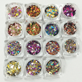 1Pc Nail Art Glitter Round Shapes Sequins Acrylic Tips UV Gel 16 Color For Choose