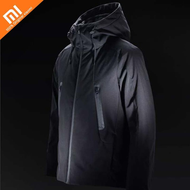 Nuevo Xiaomi mijia 90 puntos temperatura caliente control chaqueta control de temperatura inteligente calefacción 90% ganso lavable