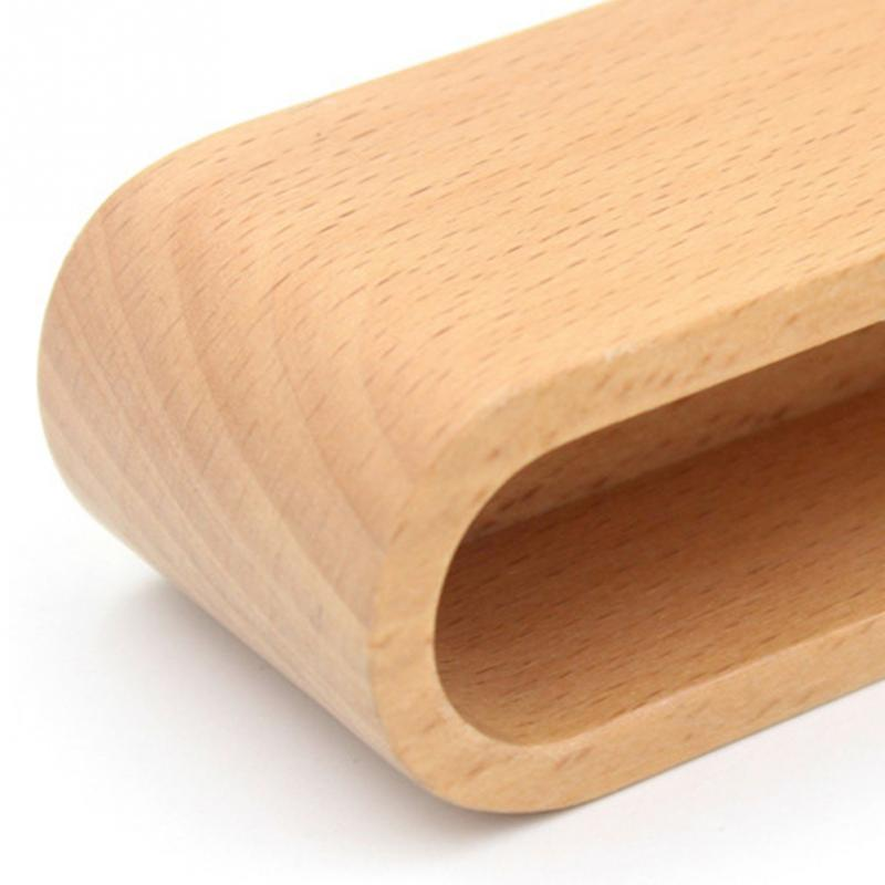 Solid Wood Business Card Storage Box Natural Delicate Practical