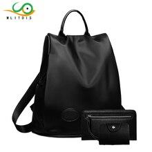 MLITDIS Женщины Рюкзак сумки 2017 Водонепроницаемый Нейлон Рюкзак Леди женские Рюкзаки Женщины Случайный Сумка Mochila Feminina Подарок