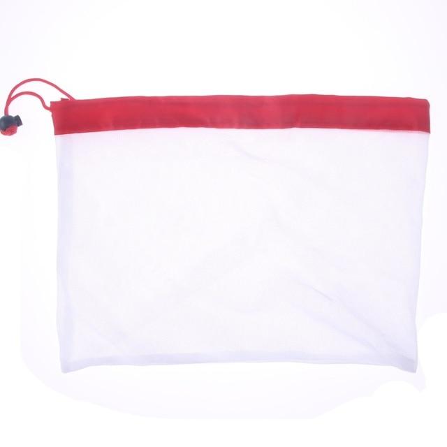 1 قطعة/3 قطعة/5 قطعة قابلة لإعادة الاستخدام تنتج حقائب من القماش الشبكي حبل الخضار لعب كيس التخزين الفاكهة و أكياس البقالة شبكة حقيبة التخزين حقيبة تسوق