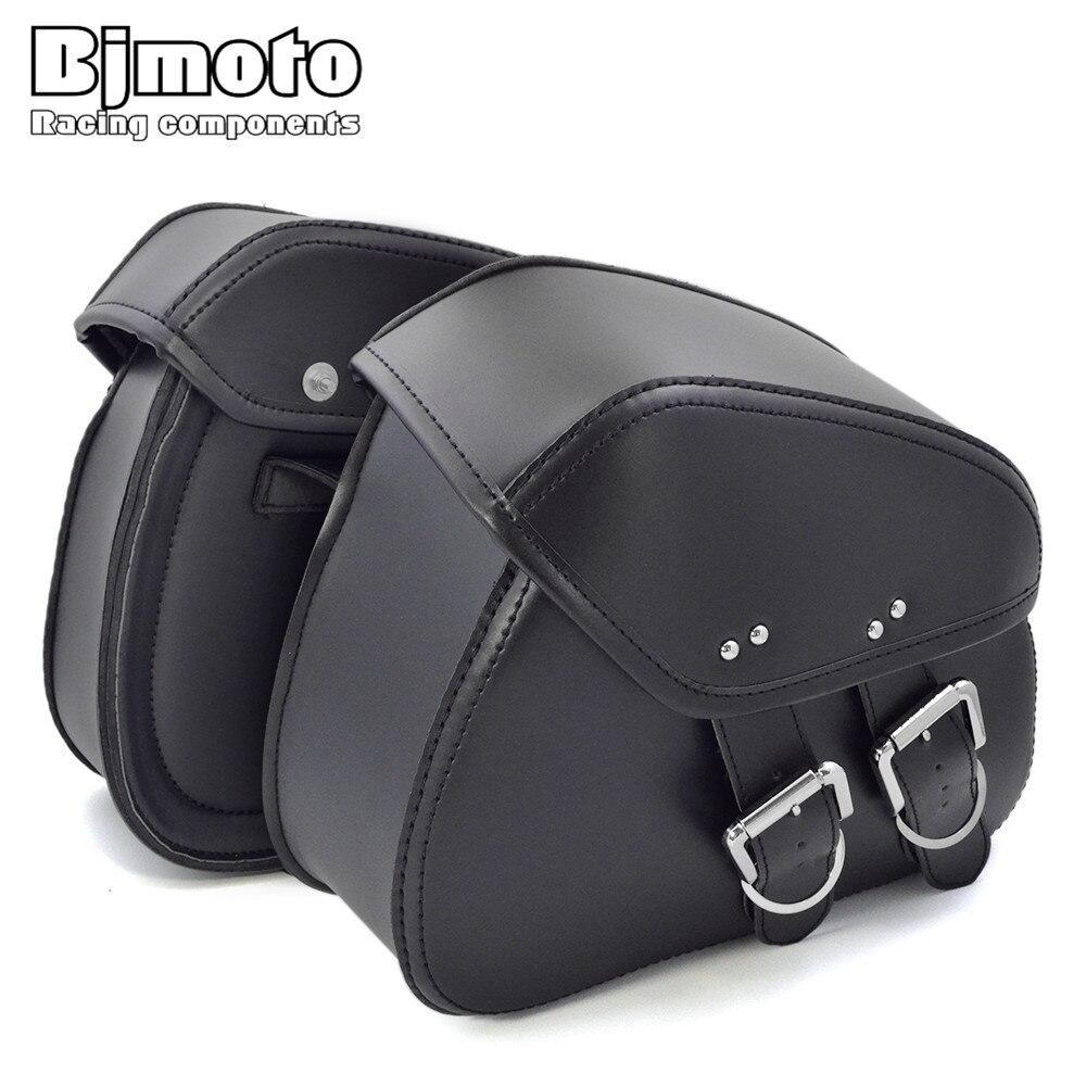 Bjmoto 2017 новая мотоциклетная куртка из искусственной кожи Сумы с достаточно места для хранения сумке сбоку сумка для Harley