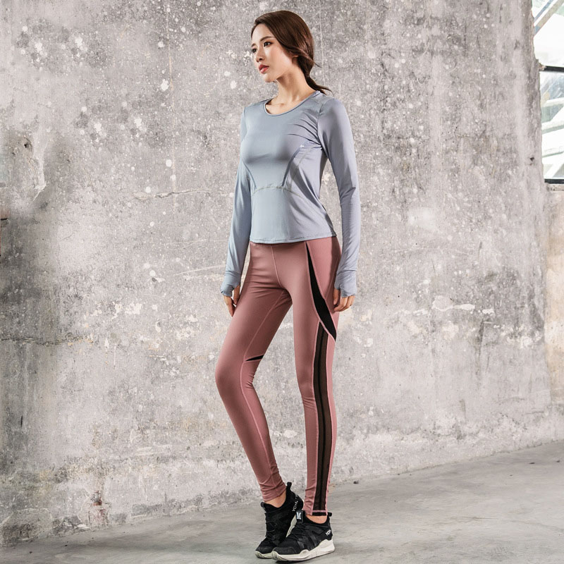 Women's Yoga Suits Sports Clothing Female Fitness Tracksuit Gym Woman Sportswear Yoga Sets Running Sportswear Jogging Suits new winter yoga suit five piece female ms breathable coat of cultivate one s morality pants sports suits running fitness