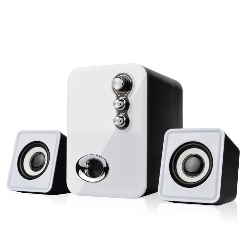 Wired Mini Computer Speakers USB 2.0 Stereo Portable PC Speaker 2.1 Subwoofer Multimedia Mini USB Laptop Desktop Speaker