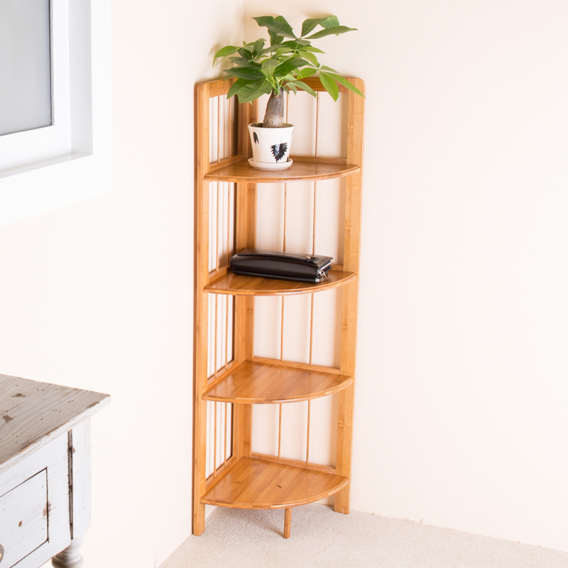 kitchen bathroom storage rack shelf bamboo corner shelf corner shelf corner decorative shelf. Black Bedroom Furniture Sets. Home Design Ideas