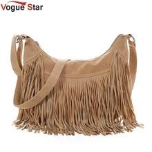 Vogue star franja de la borla de mensajero de las mujeres bolsos marcas famosas bolso femenino bolsas de moda cross body bag yb40-397
