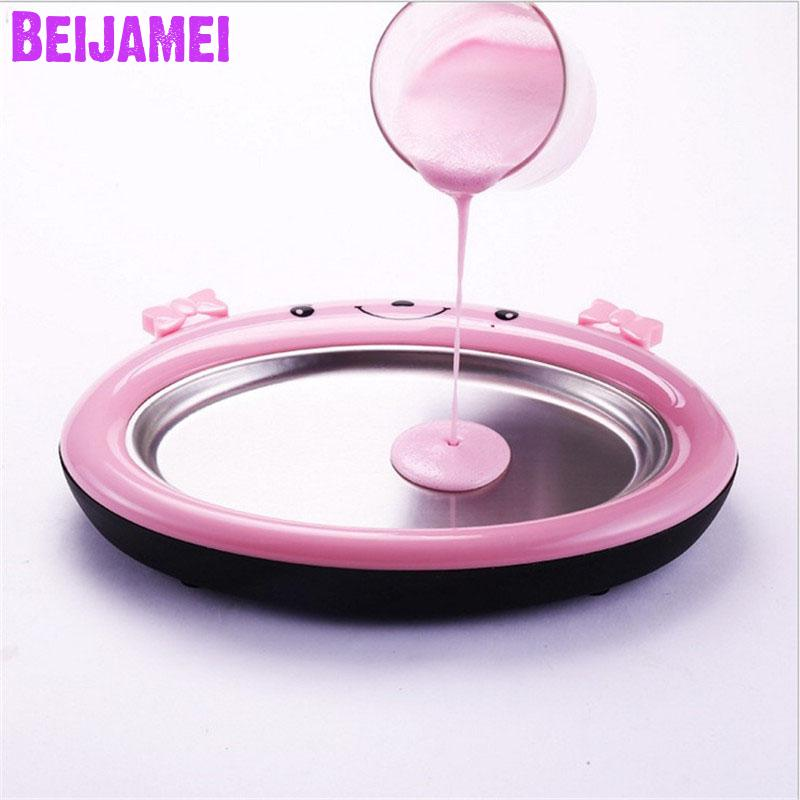 Beijamei Household DIY mini fried ice machine Non electricity fried yogurt maker homemade ice cream making price