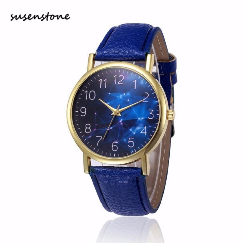Susenstone small fresh soft women watch fashion casual women leather band quartz watch ladies for Casual watches
