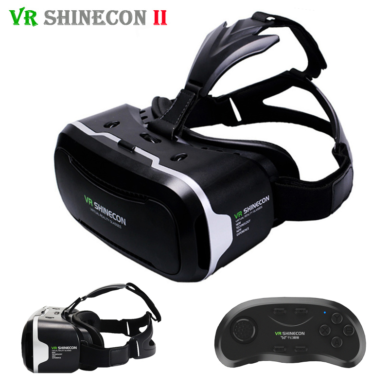 <font><b>Shinecon</b></font> <font><b>VR</b></font> 2.0 3D <font><b>Virtual</b></font> <font><b>Reality</b></font> <font><b>Glasses</b></font> <font><b>Headset</b></font> Immersive Helmet <font><b>vr</b></font> <font><b>box</b></font> Head Mount For 4.7-6' Phones + Remote Controller