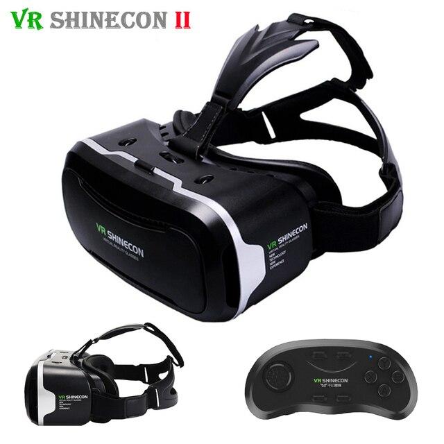 Shinecon vr vr 2.0 3d gafas de realidad virtual inmersiva auricular casco cabeza caja de montaje para 4.7-6' teléfonos + mando a distancia