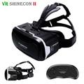 Shinecon vr vr 2.0 headset óculos de realidade virtual 3d imersiva capacete caixa de cabeça de montagem para 4.7-6' telefones + controle remoto