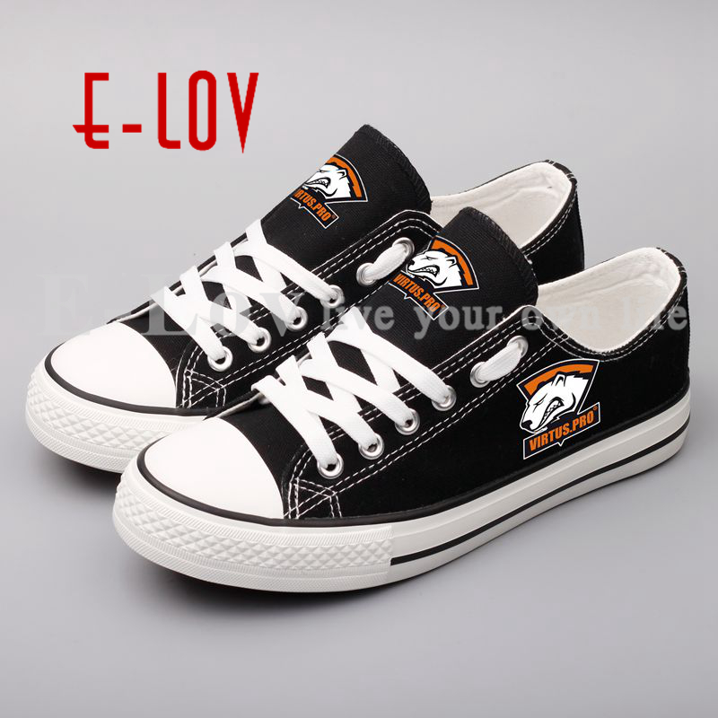 Dropshipping High Quality Unisex Printed Canvas Shoes For Women Hip Hop Woman Girls Casual Shoes Lace-up Custom for Gift