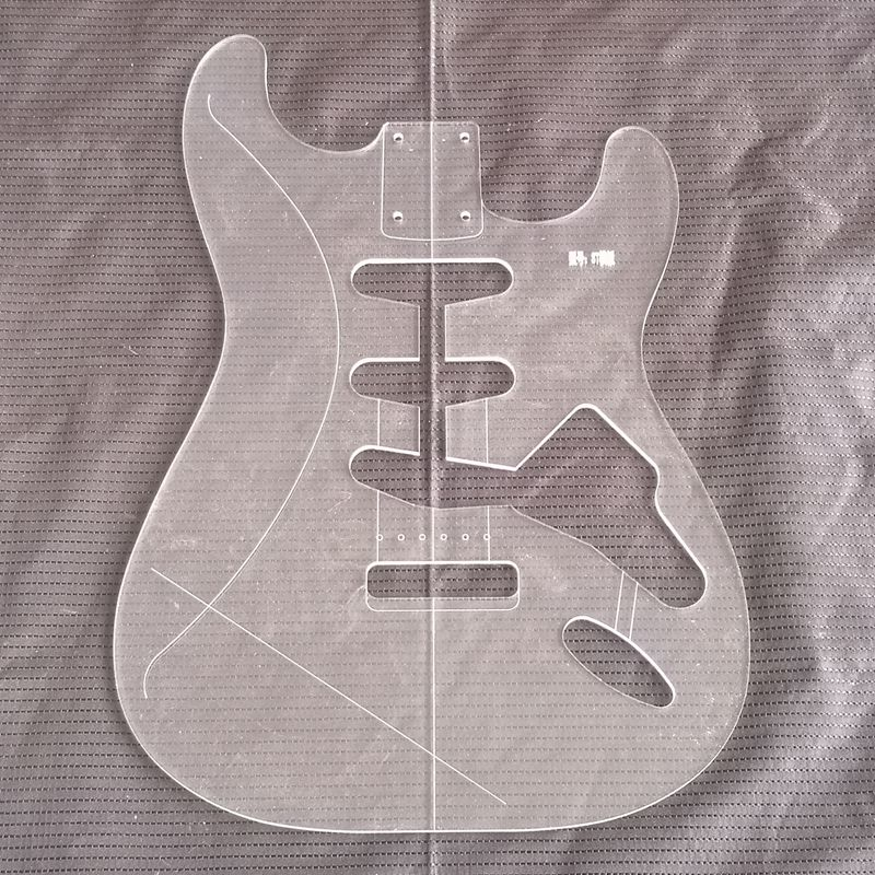 ST Style Electric Guitar Body Transparent Acrylic Template Guitar Making MoldsST Style Electric Guitar Body Transparent Acrylic Template Guitar Making Molds