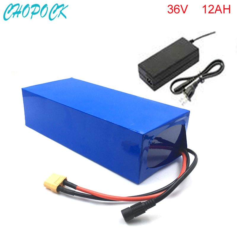 No taxe electric bike 36V 12Ah battery with free 42V 2A charger 36v 12a electric bicycle li-ion battery 36v 500w lithium battery liitokala 36v 6ah 10s3p 18650 rechargeable battery pack modified bicycles electric vehicle protection with pcb 36v 2a charger