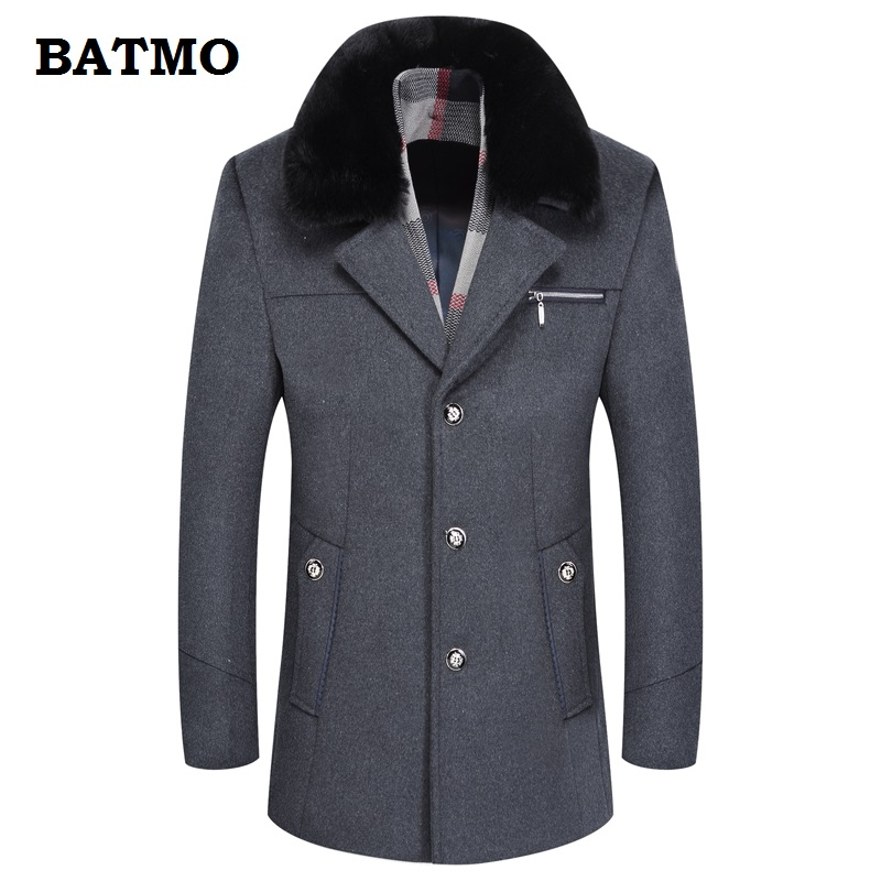 Jackets & Coats Provided Batmo 2018 New Arrival Winter High Quality Wool Thicked Casual Trench Coat Men,mens Thicked Jackets,mens Winter Parkas 1788