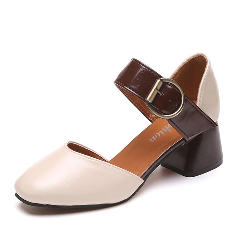 2018 nove priložnostne sandale ženske črpalke okrogel toe visoke - Ženski čevlji