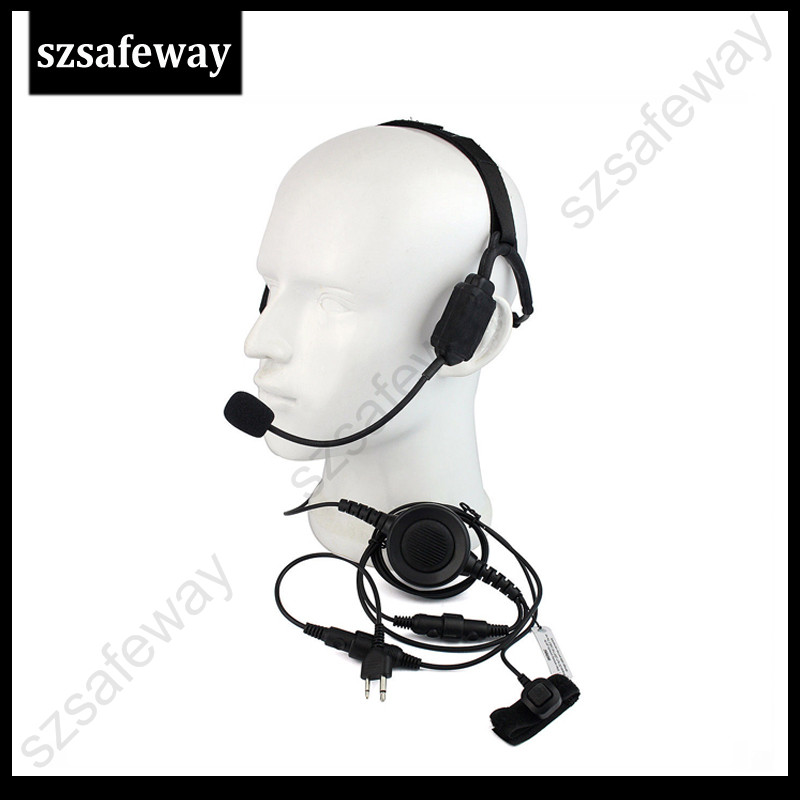 Headset Earpiece Mic for ICOM IC-F3S IC-F4S IC-80AD IC-91AD IC-H2 IC-H6 IC-H16