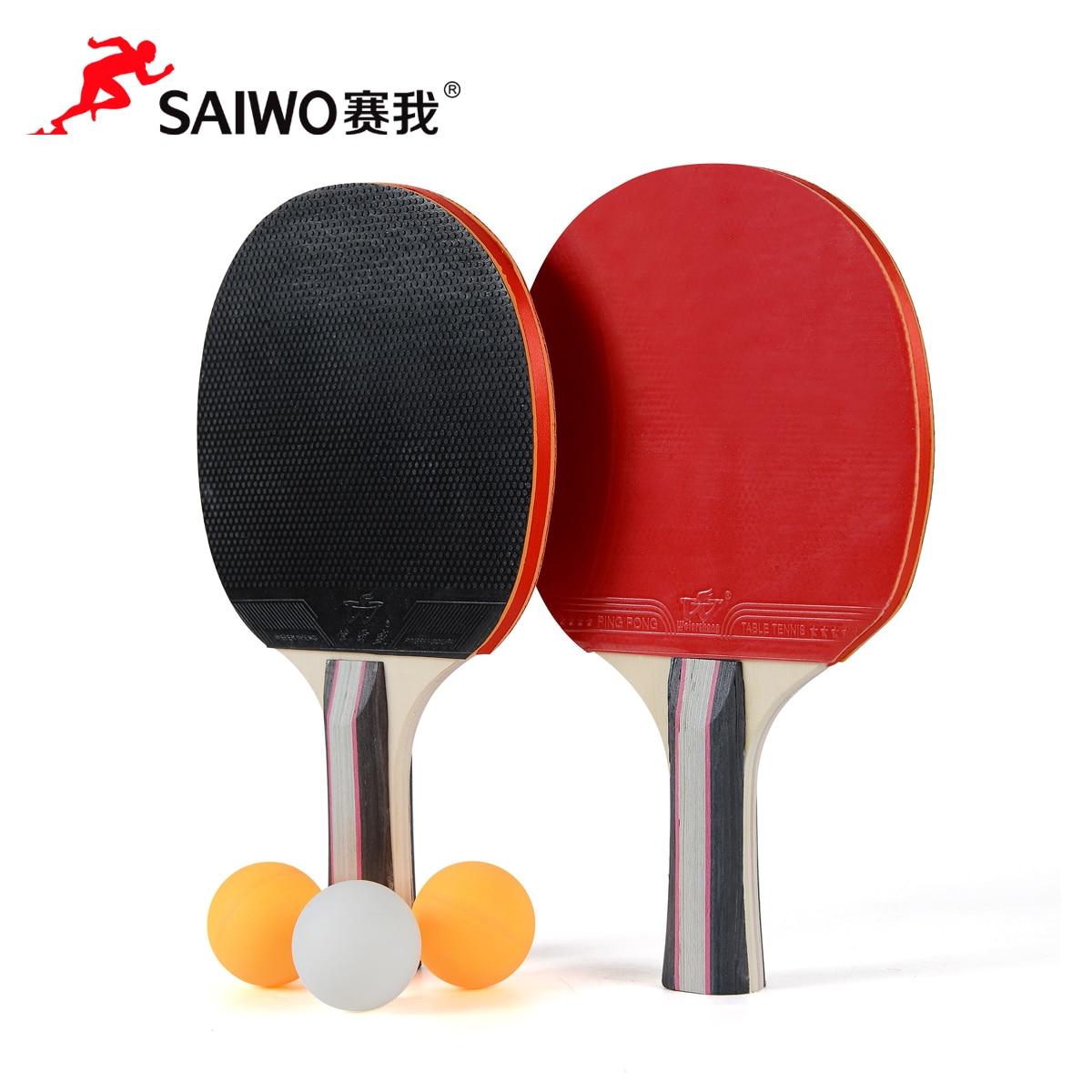 Bordtennis Bolltennisboll färdiga produkter 2 3 Boll 1 set Ping Pong Paddle Lång / Korthäftig Bordtennis Rakett