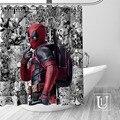 Nach Marvel Deadpool Dusche Vorhang MEHR GRÖßE Wasserdichte Stoff Dusche Vorhang für Badezimmer Dekor Dropshipping-in Duschvorhänge aus Heim und Garten bei