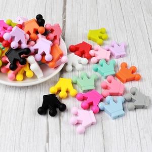 Image 3 - 50Pc Kroon Siliconen Kralen Baby Sieraden Accessoires Tandjes Ketting Maken Voedsel Siliconen Kralen