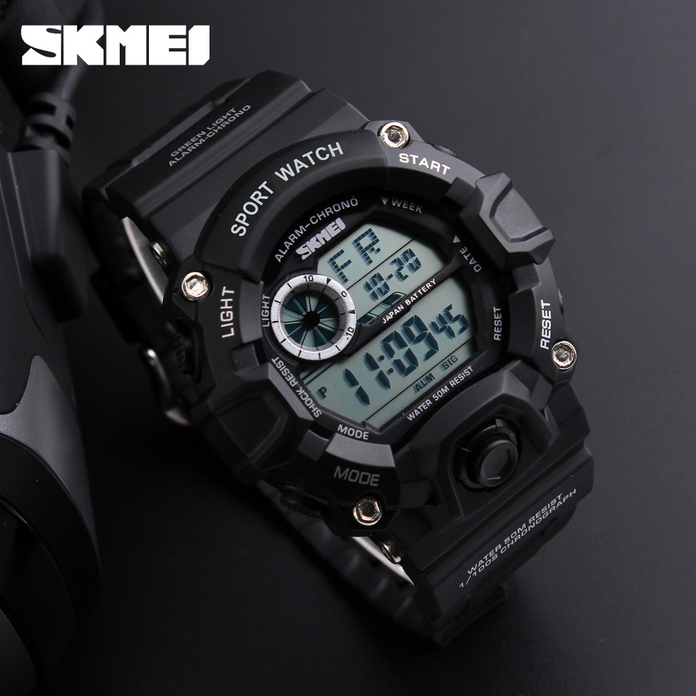 New Brand Men Military Watch LED Digital Watch 50M Waterproof Multifunction Student Army Wristwatches Sports Watches <font><b>SKMEI</b></font> Clock image