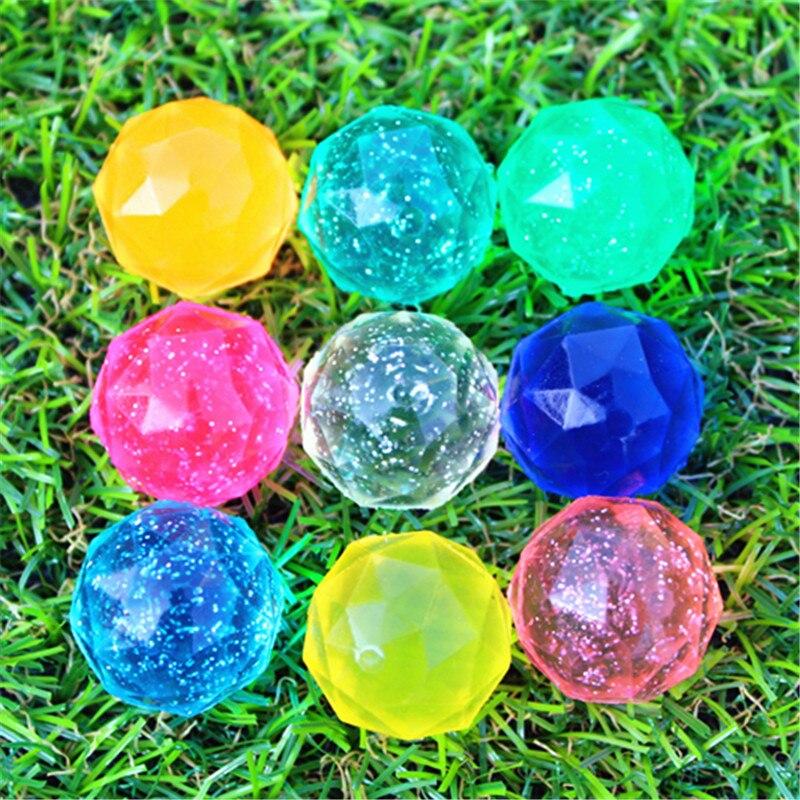 20pcs/30pcs/50pcs/80pcs/100pcs Funny Toy 32MM Bouncing Diamond Shape Ball Bouncy Ball Child Rubber Ball Of Bouncy Toy